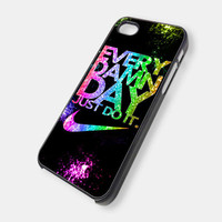 Every Damn Day Nike Just Do It Image 2 iPhone 5 Case, iPhone 4 Case, iPhone 4s Case, iPhone 4 Cover, Hard iPhone 4 Case OC18