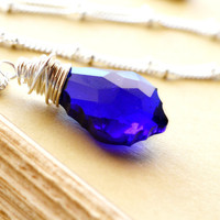 Cobalt Crystal Necklace