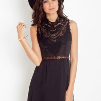 Emme Crochet Dress - Black in  Clothes at Nasty Gal