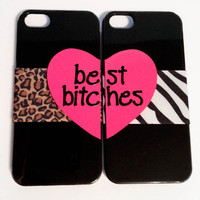 Best Bitches iPhone 4/4S cases  Cheetah & Zebra by VanityCases