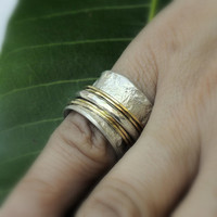 Unique  Engagement/Wedding Spinning Ring by Holylandstreasures