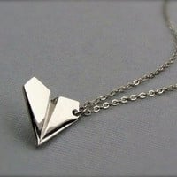 One Direction  Harry Styles paper airplane necklace                Ships fast  from usa