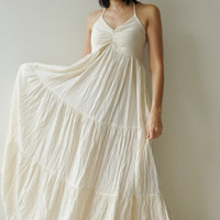 SeaCotton long dress  White Summer by aftershowershop on Etsy