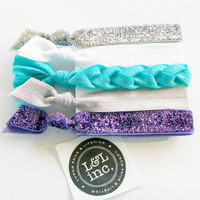 5 Hair Ties, The L &amp; L Signature Set by Lucky Girl Hair Ties