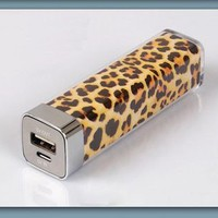 2500mAh Mini Leopard Universal Mobile USB Portable Power Bank Charger Battery