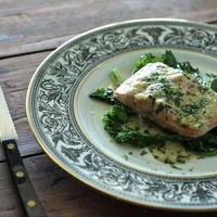 Baked Trout with Chervil and Creamy Mustard Sauce