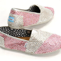 Custom Swarovski Toms Shoes.  Any Color Any Size. Include size and colors desired in notes upon checkout.