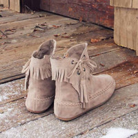 Fringe Walker Moccasins, Sweet Rugged Boots
