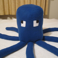Minecraft Squid Mob Plush