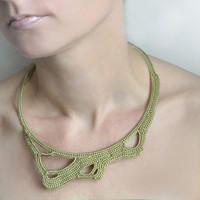 Ready to ship Green okapi necklace by okapiknits on Etsy