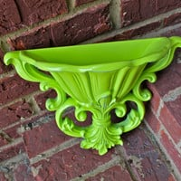 Wall Pocket Sconce/ Lime Green /Distressed by AquaXpressions