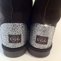 UGG Boots Featuring Swarovski Crystals by MYDIAMONTE on Etsy