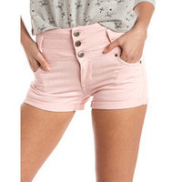 Hot Kiss High Waisted Denim Short: Charlotte Russe
