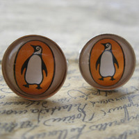 Unique Penguin Books Cufflinks Made With Vintage by JonTurner