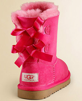 Pink Uggs With Bows on Back