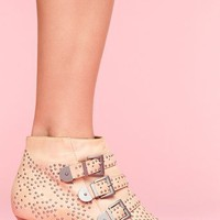 Starburst Stud Boot - Bone in  What's New at Nasty Gal