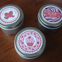 Valentine Soy Candle Tin 4 oz by JaxxCandles on Etsy