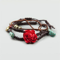 FULL TILT 3 Piece Epoxy Rose Rope Bracelets 193525400 | Bracelets | Tillys.com