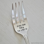 May The Fork Be With You - Large Hand Stamped Grilling/Serving Fork For Star Wars Lovers (TM) -Humorous Geek Gift