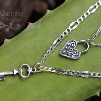 Deluxe Sterling Silver Key to my heart by WinterberryJewelry