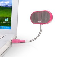 Amazon.com: JLab USB Laptop Speakers - Portable, Compact, Travel Notebook Speaker for Windows PC and Mac - B-Flex Hi-Fi Stereo USB Laptop Speaker - Cotton Candy Pink: Electronics