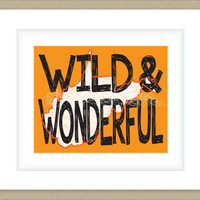 8x10 West Virgina Print, Wild and Wonderful State Typography Art Custom Color Map Art