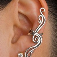 Amazon.com: Sterling Silver French Twist Ear Cuff Climber: Jewelry