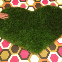 Heart Shaped Pet Mat, Door Mat, Cat Mat, Dog Mat, Pet Bed, Pet Gift, Your Pet Will LOVE YOU  Easy to Wash Synthetic Turf -2ft x 3ft