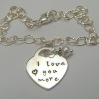 Personalized Tiffany Style BraceletI Love by SomethingAboutSilver