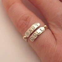 Endearment Pinkie Ring w/gold by KBerlinMetalsmith on Etsy