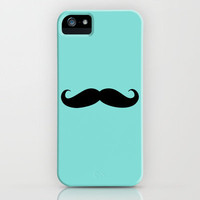 Mustache - Easter Blue iPhone Case by The LOL Shop | Society6