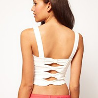 River Island Bow Back Bustier at asos.com