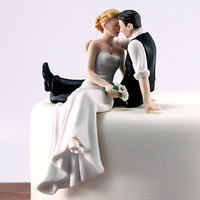 Sitting Cake Toppers -- Look of Love