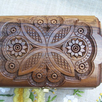 Jewelry Box Carved Box Cigars Box Wooden Box Ring by HappyFlying
