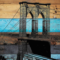 $150.00 Old Brooklyn Bridge II Canvas Print by Irena Orlov by irenaorlov
