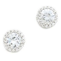 Kenneth Jay Lane Round Pave Stud Earrings | SHOPBOP