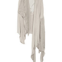 Rick Owens Draped silk and leather vest - 75% Off Now at THE OUTNET