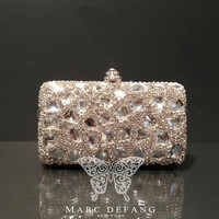 Luxury Clear Crystal Snow Diamond Clutch