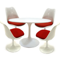 moderntomato tulip 5 pcs dining set - 3 colors to choose
