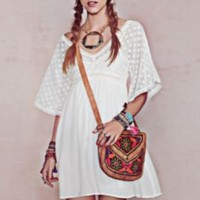 Free People Ethnic Lace Dress at Free People Clothing Boutique
