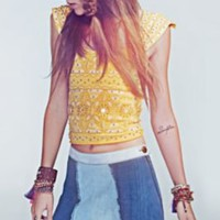 Free People Geometric Sunrays Crop at Free People Clothing Boutique