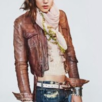 Blur Distressed Leather Jacket at Free People Clothing Boutique