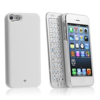 Amazon.com: Chromo Inc iPhone 5 Wireless Bluetooth Backlit Keyboard with Micro Usb Charger Ultra-thin Case Full QWERTY Keyboard - White: Cell Phones &amp; Accessories
