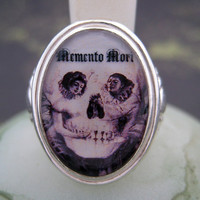 $49.00 Lamour De Pierrot Gothic Memento Mori sterling silver by tartx