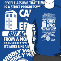 Time-y Wimey Tee T-Shirts  Hoodies by Tom Trager | RedBubble