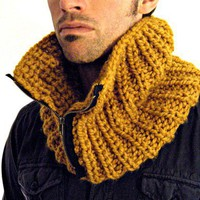 Chunky Man Cowl in Butterscotch by KittyDune on Etsy