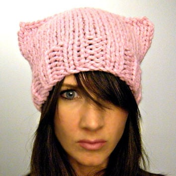 Cat ears beanie hat Pink by KittyDune on Etsy