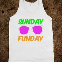 Sunday Funday Neon Party Tank Top