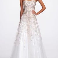 Strapless Heavily Sequin Prom Dress - David's Bridal - mobile