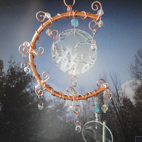 Frosted and Frozen A Moon of Copper and Glass by JewelsInTheGarden